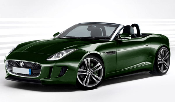 Jaguar f type coupe green - photo#5